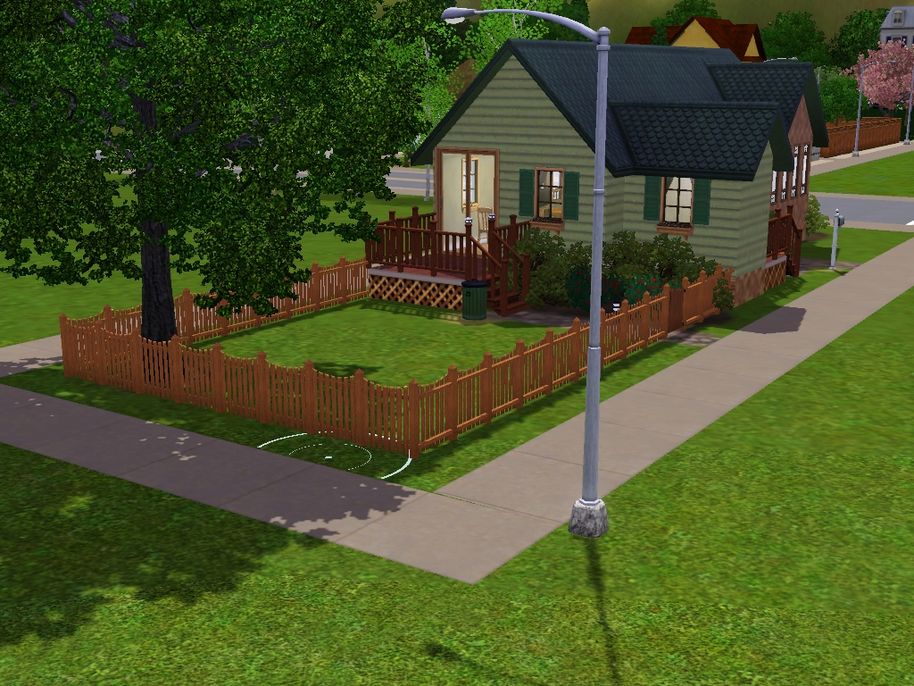 sims 2 backyard ideas. it has a back deck and fenced yard there is large bedroom bathroom cozy but nice furnished for 2 sims baby backyard ideas b
