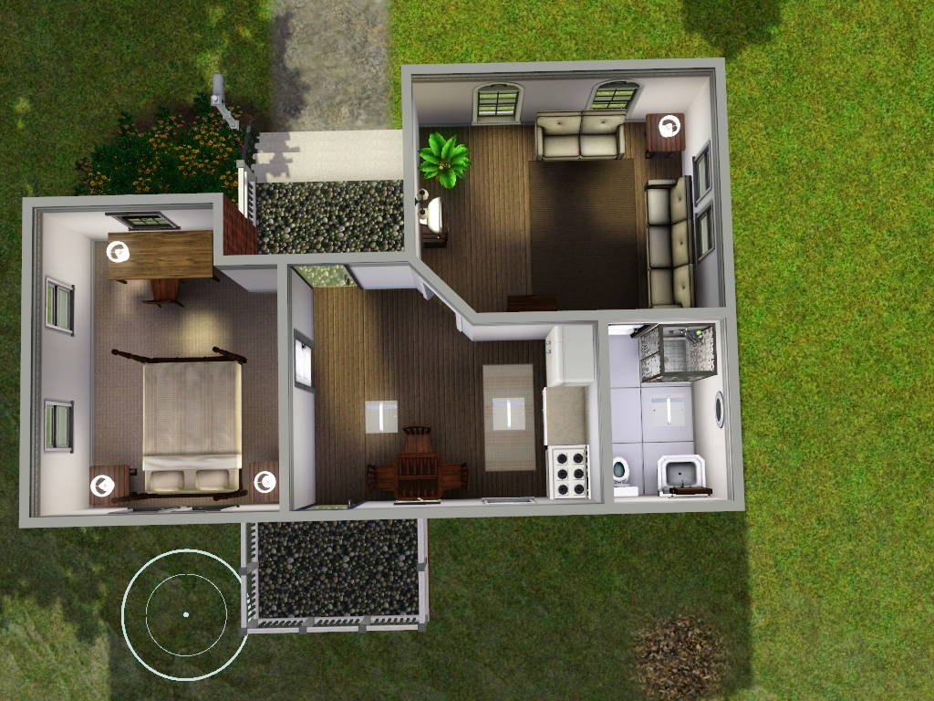 Starter homes for sims 3 at my sim realty for Small starter house plans