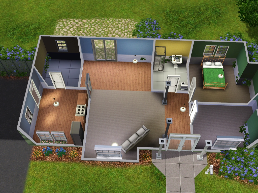 Sims 3 starter home floor plans for Small starter homes