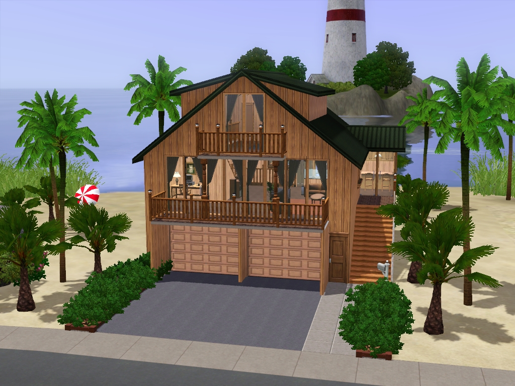 The sims 3 beach house floor plans for Beach house plans sims 3