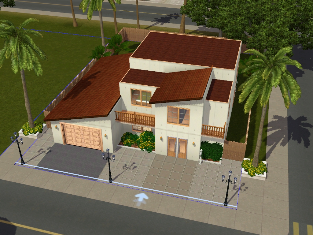 Sims 2 modern house floor plan for Sims 2 home designs
