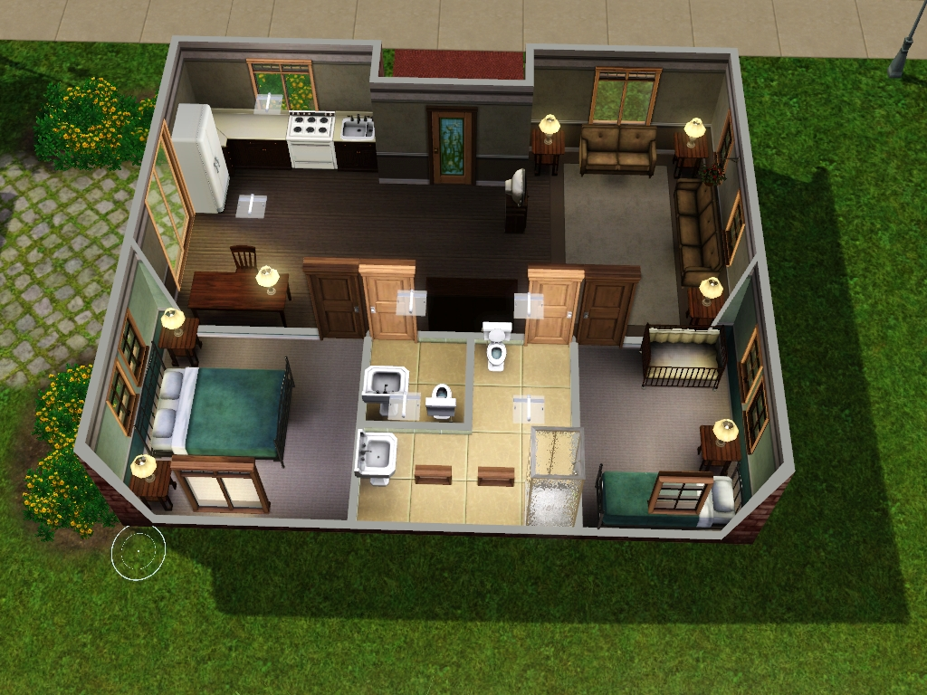 Sims 3 house plans free for 3 family house plans