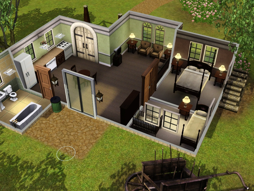 Open Office Floor Plans Family Homes For Sims 3 At My Sim Realty