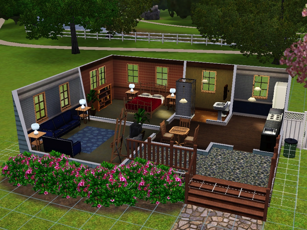 Starter homes for sims 3 at my sim realty for Minimalist house sims 2