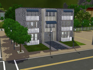 Burns Street Apartment Requires Sims 3 Ambitions Late Night Lot Size 20x20 Furnished 10 186 Bedrooms 0 Bathrooms 1 Stories 2 Useable